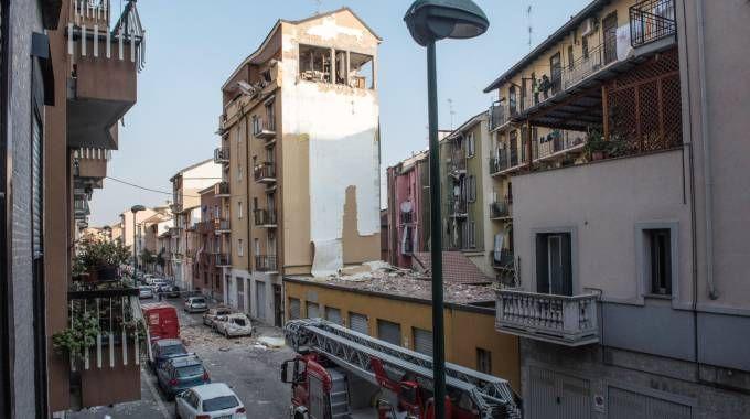 L'area di via Villoresi interessata dallo scoppio