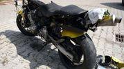 La Honda del giovane di 27 anni che ha perso la vita in tangenziale (foto Businesspress