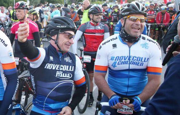 Yuri Chechi e Antonio Rossi sulla linea di partenza (Foto Ravaglia)