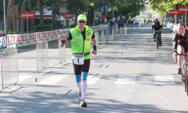Marco Bonfiglio, vincitore della running (Foto Ravaglia)