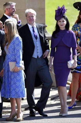 Charles Spencer, fratello di Lady D e zio dello sposo, insieme alla moglie (Ansa)