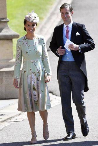Pippa Middleton con il marito James Matthews (Ansa)