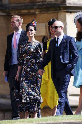 L'attore Tom Hardy con la moglie e collega Charlotte Riley (Lapresse)