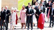 Al centro la tennista Serena Williams con il marito Alexis Ohanian (Ansa)