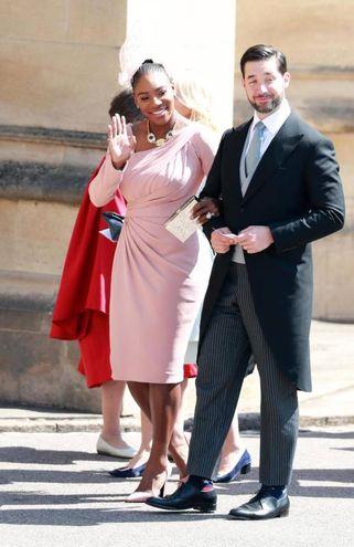 La tennista Serena Williams con il marito Alexis Ohanian (Ansa)