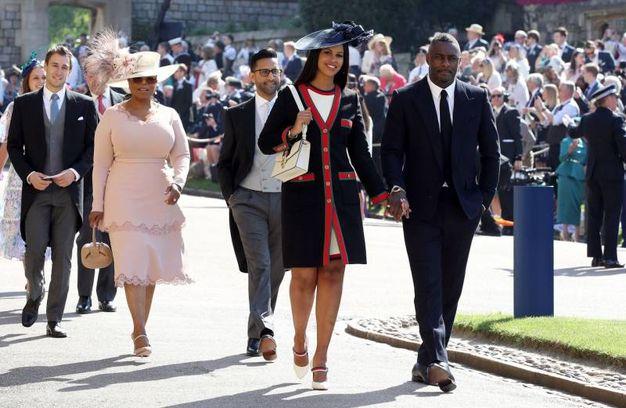Oprah Winfrey, Sabrina Dhowre e Idris Elba (Lapresse)