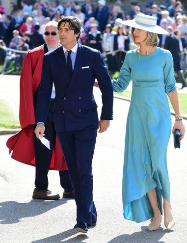 Il giocatore di polo Nacho Figueras con la moglie (Lapresse)