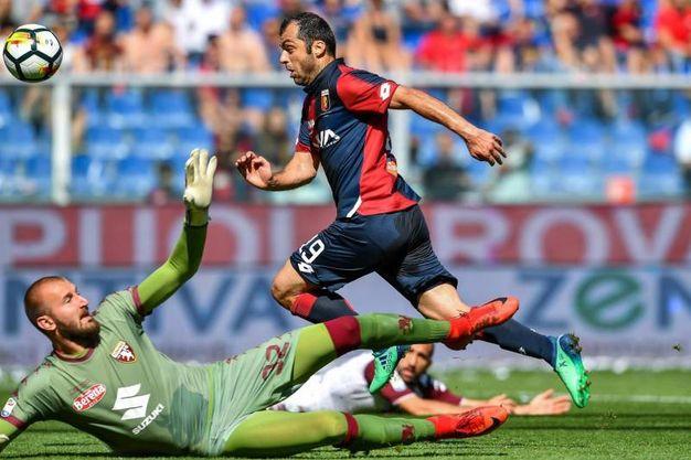 Genoa-Torino 1-2, Pandev (Ansa)