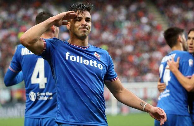 Milan-Fiorentina 0-1, Simeone (Ansa)