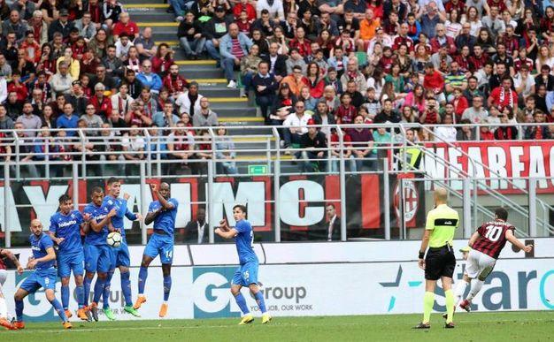 Milan-Fiorentina 1-1, Calhanoglu (Ansa)