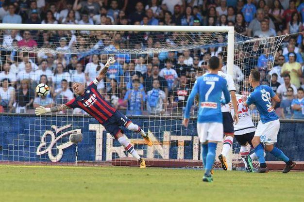 Napoli-Crotone 1-0, Milik (Ansa)