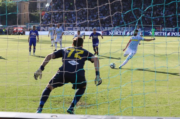 Spal-Sampdoria 1-0, Antenucci (LaPresse)
