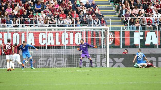 Milan-Fiorentina 2-1, Cutrone (Ansa)