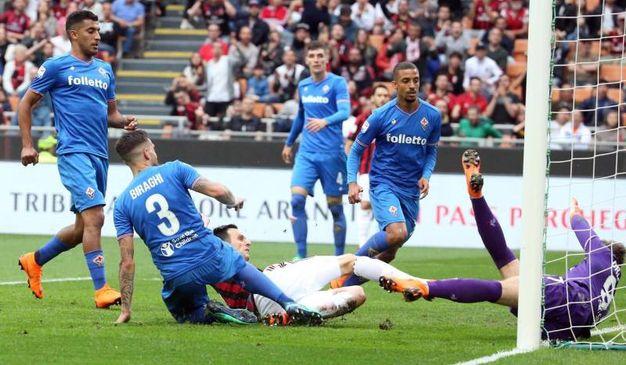 Milan-Fiorentina 3-1, Kalinic (Ansa)