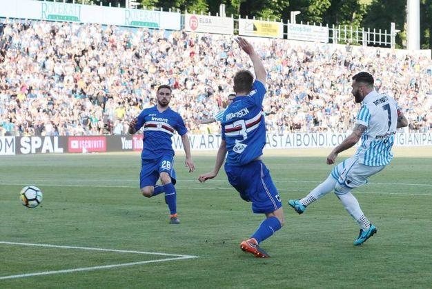 Spal-Sampdoria 3-0, Antenucci (Ansa)
