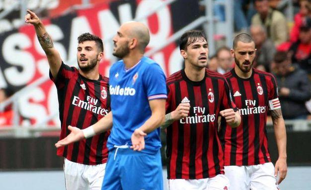 Milan-Fiorentina, immagini da San Siro