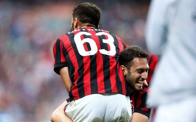 Milan-Fiorentina 4-1, Cutrone (LaPresse)