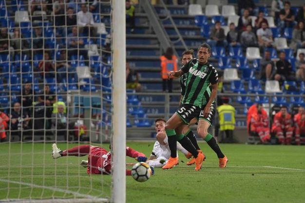 Vince la Roma al Mapei Stadium (foto LaPresse)