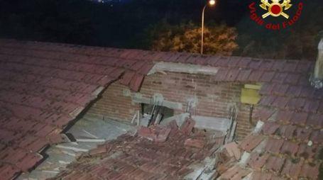 Il cedimento sul tetto