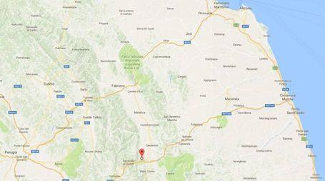 La zona dell'epicentro del terremoto