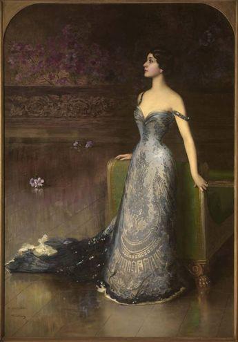 Vittorio Corcos, ritratto di Lina Cavalieri (1903, olio su tela, Firenze, collezione privata)