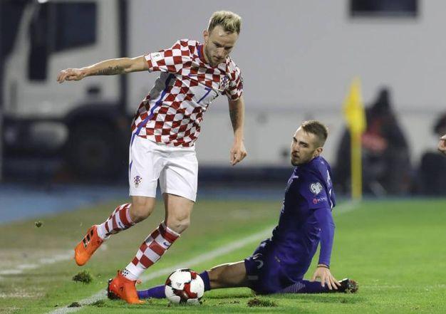 Ivan Rakitic, centrocampista della Croazia, 30 anni (Ansa)