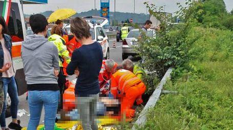 Incidente all'imbocco galleria Montenegrone