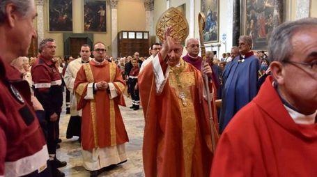 Il vescovo Giusti alla Messa in Cattedrale (Foto Novi)