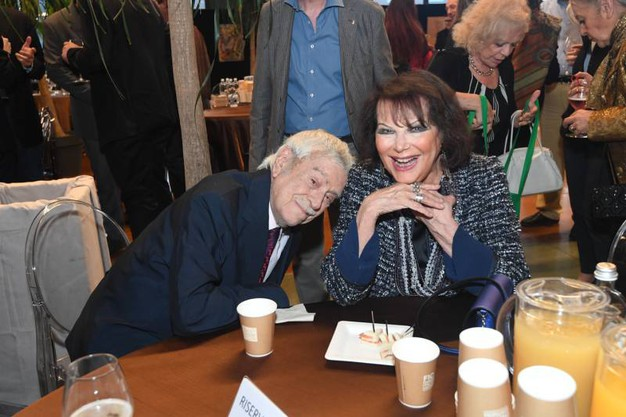 Raffaele Pisu con Claudia Cardinale a Fico (Foto Schicchi)