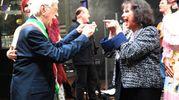 Claudia Cardinale e Raffele Pisu (Foto Schicchi)