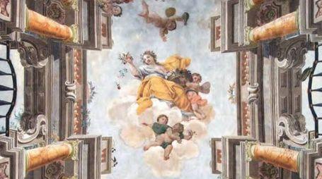 Volta affrescata a Palazzo Compagnoni Marefoschi