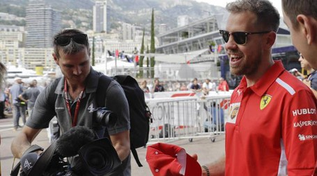 Sebastian Vettel a Montecarlo (Ansa)