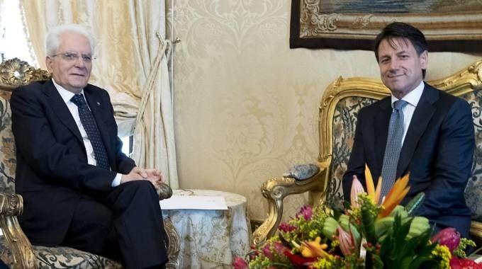 Giuseppe Conte a colloquio con Mattarella (Imagoeconomica)