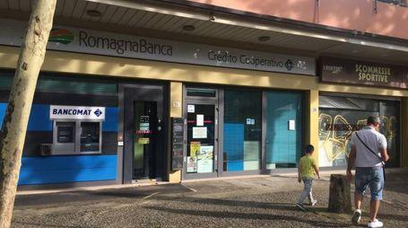 La filiale di RomagnaBanca presa di mira da un rapinatore solitario