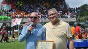 L'organizzatore gaetano d'auria (a destra) con l'assessore Adalberto Bertucci
