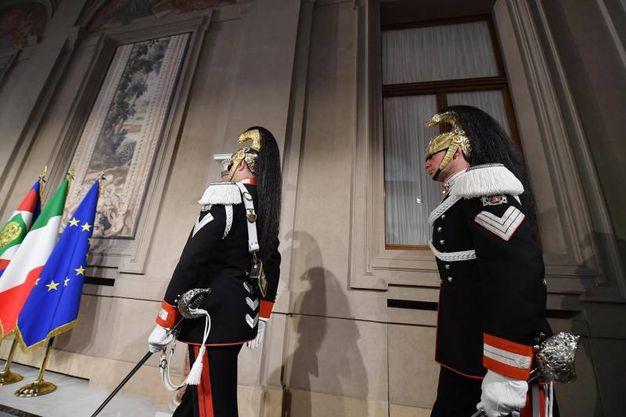 Giuseppe Conte sale al Quirinale (Ansa)
