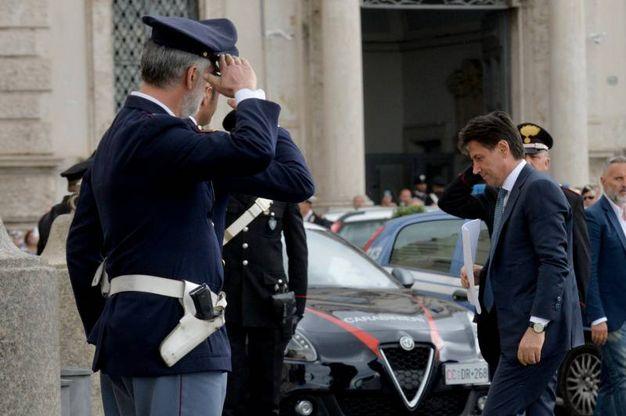 Giuseppe Conte sale al Quirinale (ImagoE)