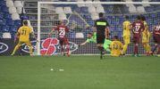 Il gol della Reggiana (foto Artioli)