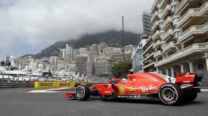 La Ferrari di Vettel a Monaco (Ansa)
