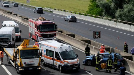Incidente in A14, morto Luigi Alessandro Codazzi (foto Frasca)