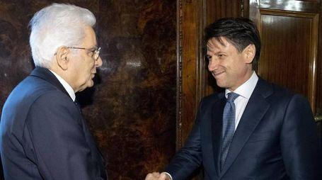 Conte incontra il presidente Mattarella (Ansa)