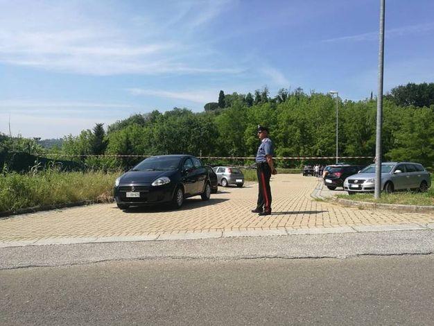 San Miniato, il parcheggio dove è stata trovata l'auto con i due cadaveri (Germogli)