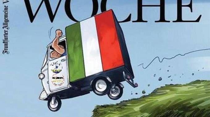 L'inserto della Frankfurter Allgemeine Zeitung dedicato all'Italia (Ansa)