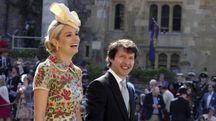 James Blunt e Sofia Wellesley al matrimonio del principe Harry e Meghan Markel (Ansa)