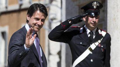 Il presidente del consiglio incaricato Giuseppe Conte (Ansa)
