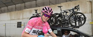 Chris Froome in rosa a Roma