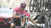 Froome brinda alla vittoria del Giro numero 101 (Lapresse)