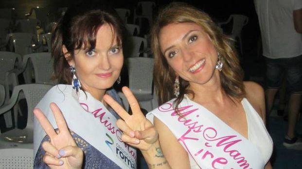 Francesca Panzacchi (a sinistra) con la fascia