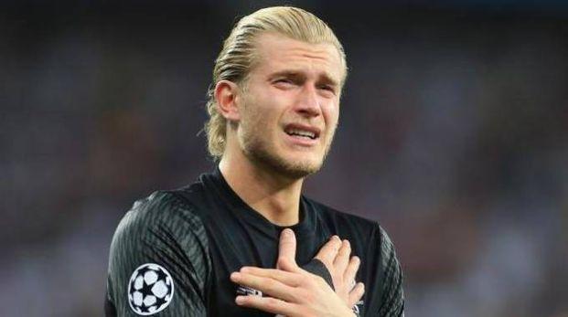 Loris Karius, portiere del Liverpool, in lacrime dopo  la brutta sconfitta in Champions League (foto archivio)