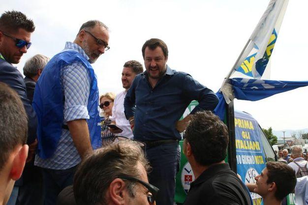 Matteo Salvini a Pisa (foto Valtriani)